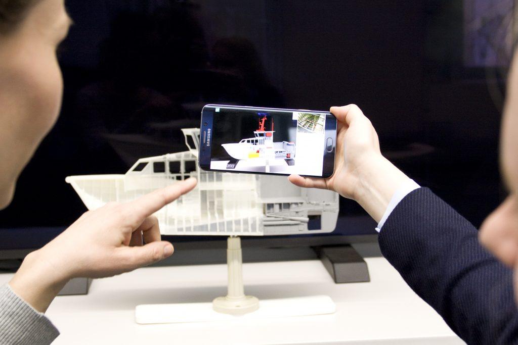 Smartphone mit AR-Technik