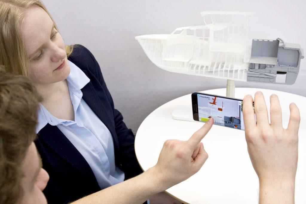 Smartphone mit AR Technologie