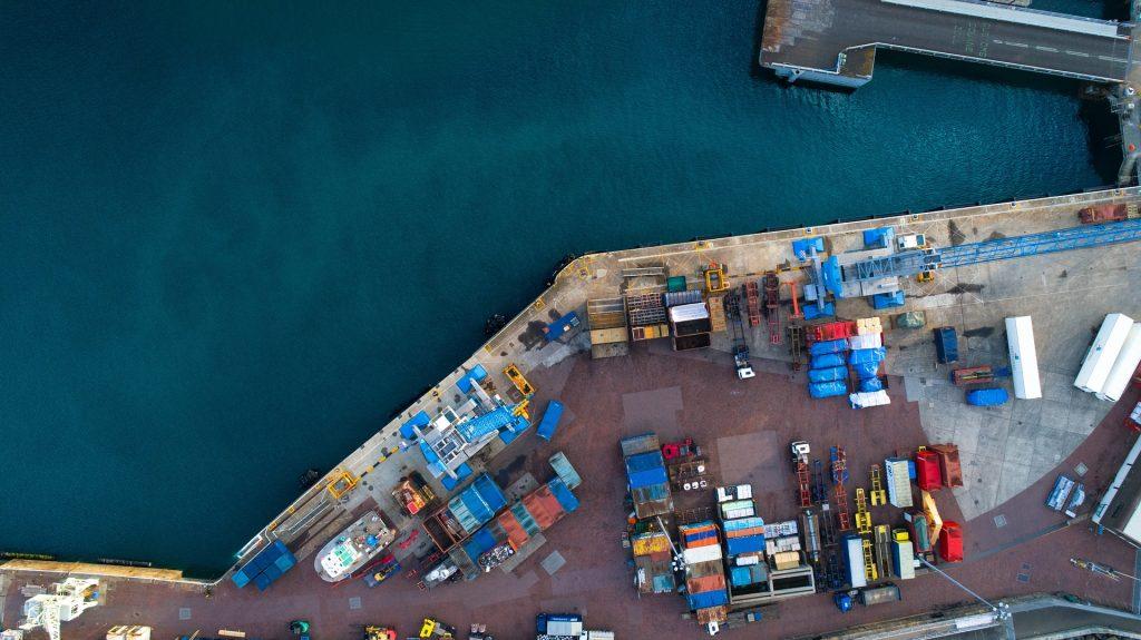Hafenbecken von Oben