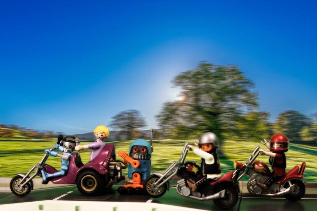 Playmobil Szene Motorrad